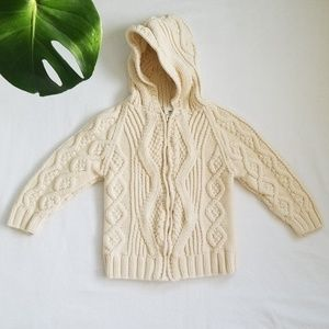 GYMBOREE Ivory Cream Cable Knit Sweater